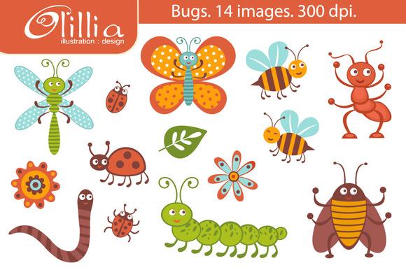 Cute Clipart Bug. Bugs