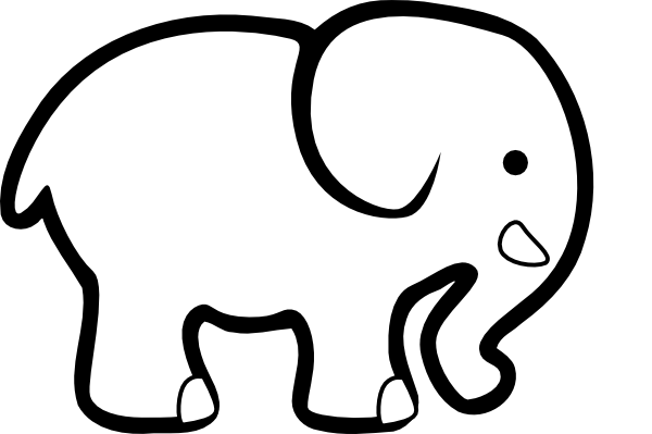 Cute Elephant Silhouette Clip Art | Clipart library - Free Clipart