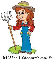 Cute farm girl