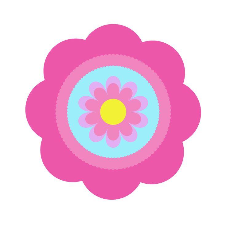 Cute Flower Clip Art Vector. Flower on Pinterest