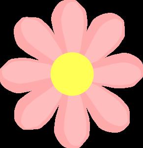 Cute Flower Pink Clip Art At Clker Com Vector Clip Art Online