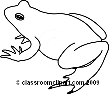 Cute Frog Clip Art Black And White Clipart Panda Free Clipart