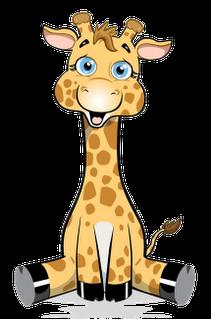 Cute giraffe, Clip art and .