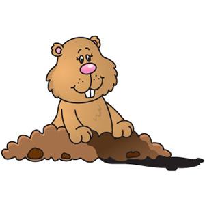 Cute groundhog clipart mariana .