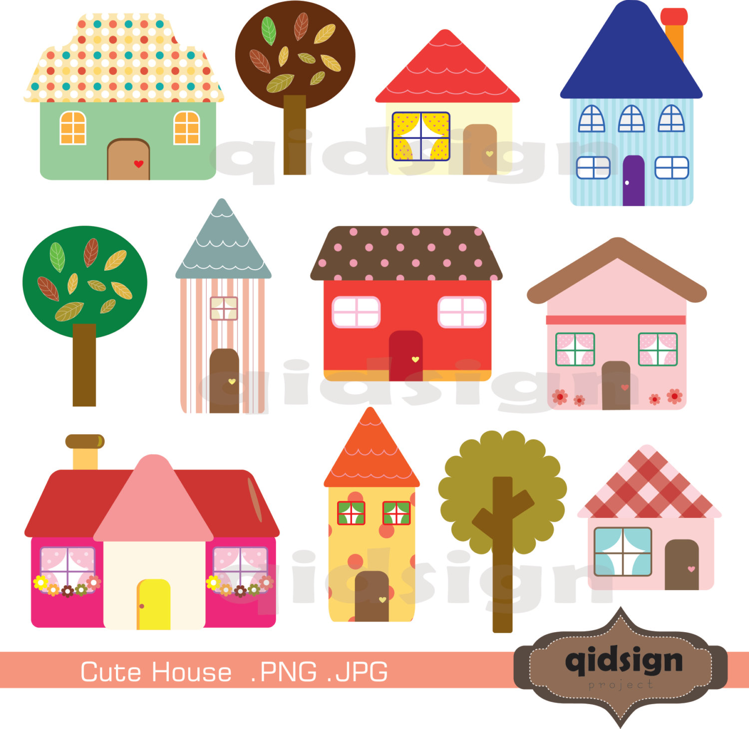 Cute House Clipart Personal .