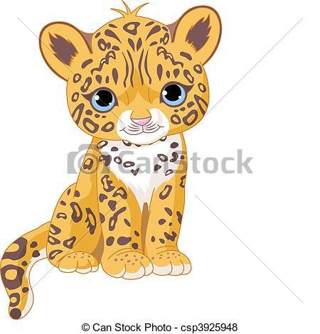 ... Cute Jaguar Cub - Illustration of Cute Jaguar (Panther) Cub