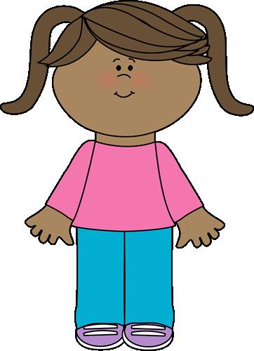 Cute Little Girl Clip Art