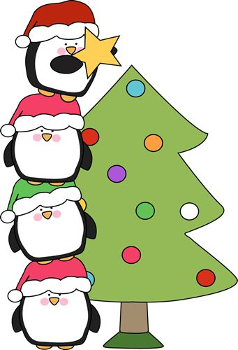 Cute little penguins trying to put a star on a tree. Of all the Christmas clip art Iu0026#39;ve made so far, this is my favorite. I think because of the whimsical ...