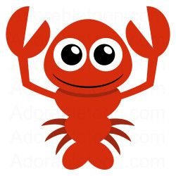 Cute lobster clipart from adorabletoon work