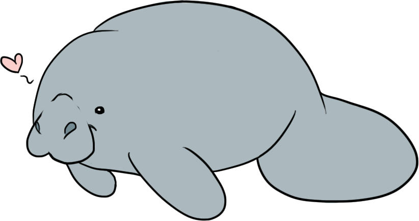 Cute Manatee Drawings Richard With Clipart Free Clip Art Images
