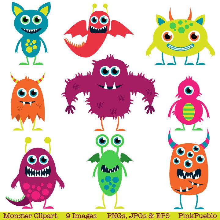 Cute Monsters Clip Art Clipart Aliens Clip Art By Pinkpueblo