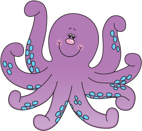 Cute octopus clipart free .