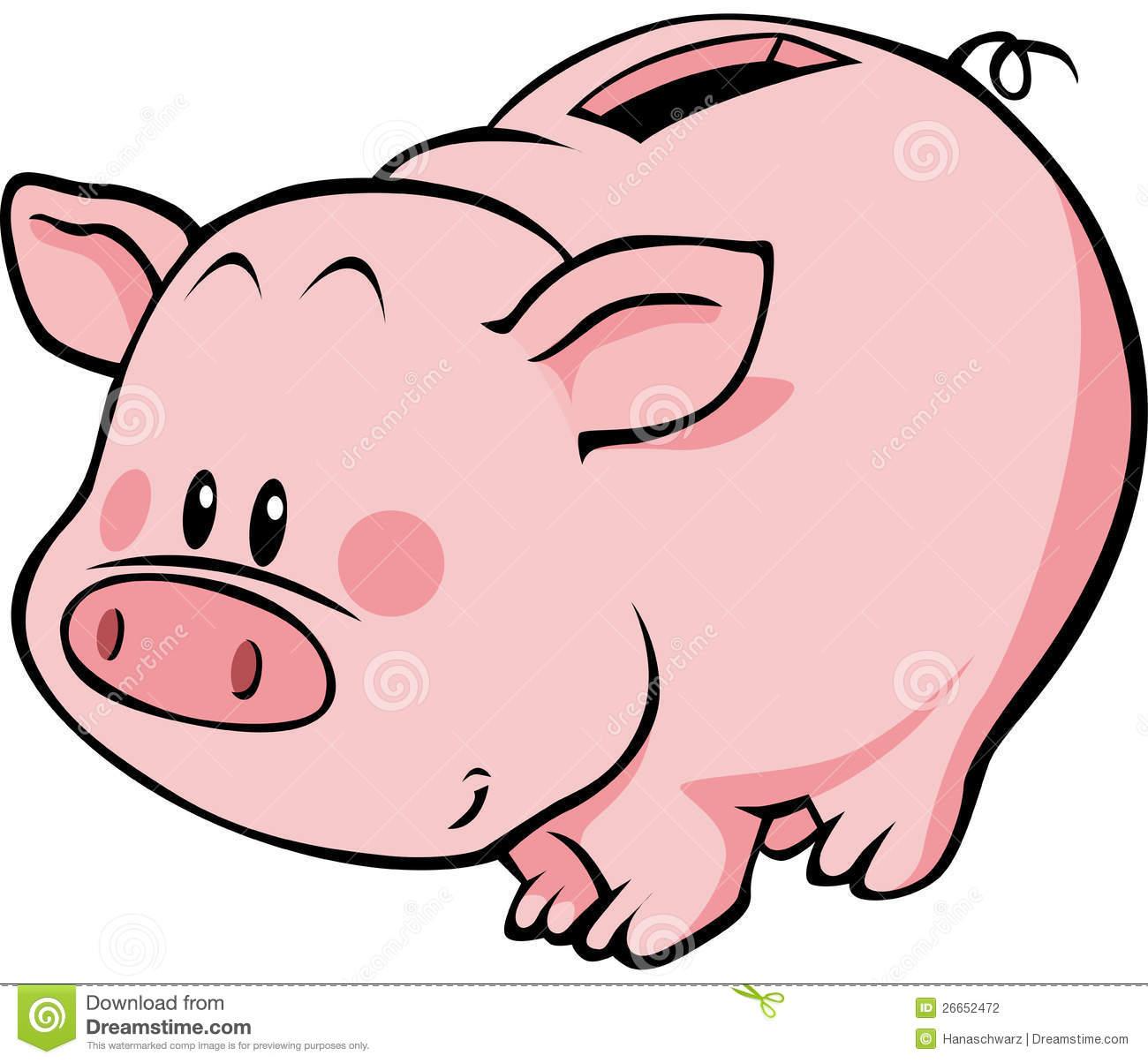 Cute Piggy Bank Clipart Cartoon Piggy Bank 26652472 Jpg