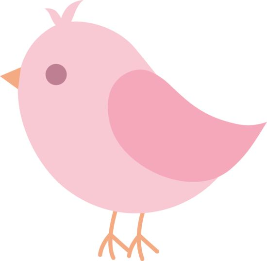 Cute Pink Spring Bird..free clipart for personal use