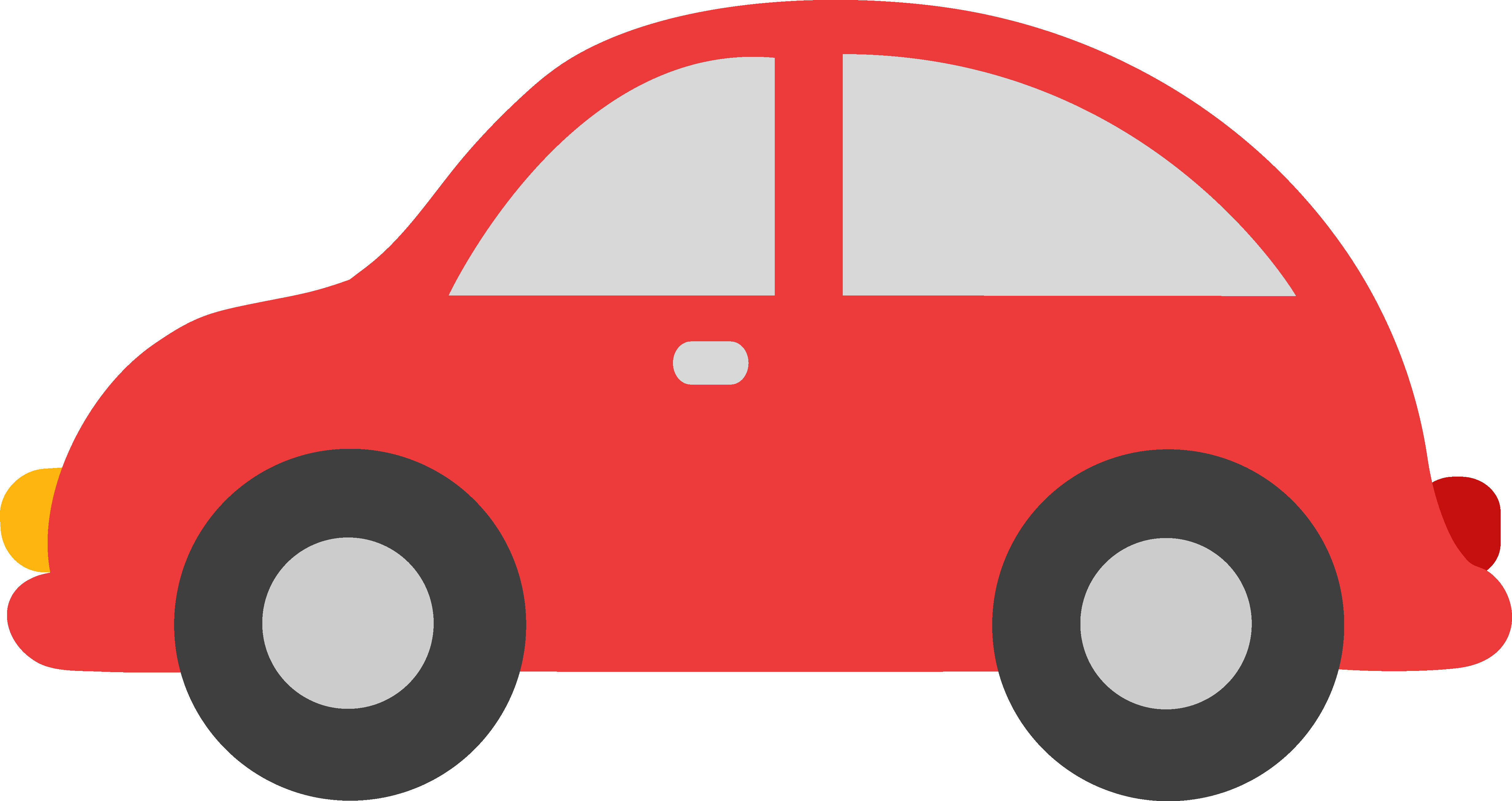 Cute Red Toy Car Clip Art