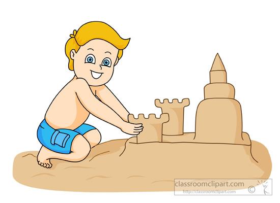 Cute Sand Castle Clipart