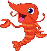... cute shrimp cartoon ...