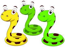 cute snake cartoon characters clipart. Size: 142 Kb