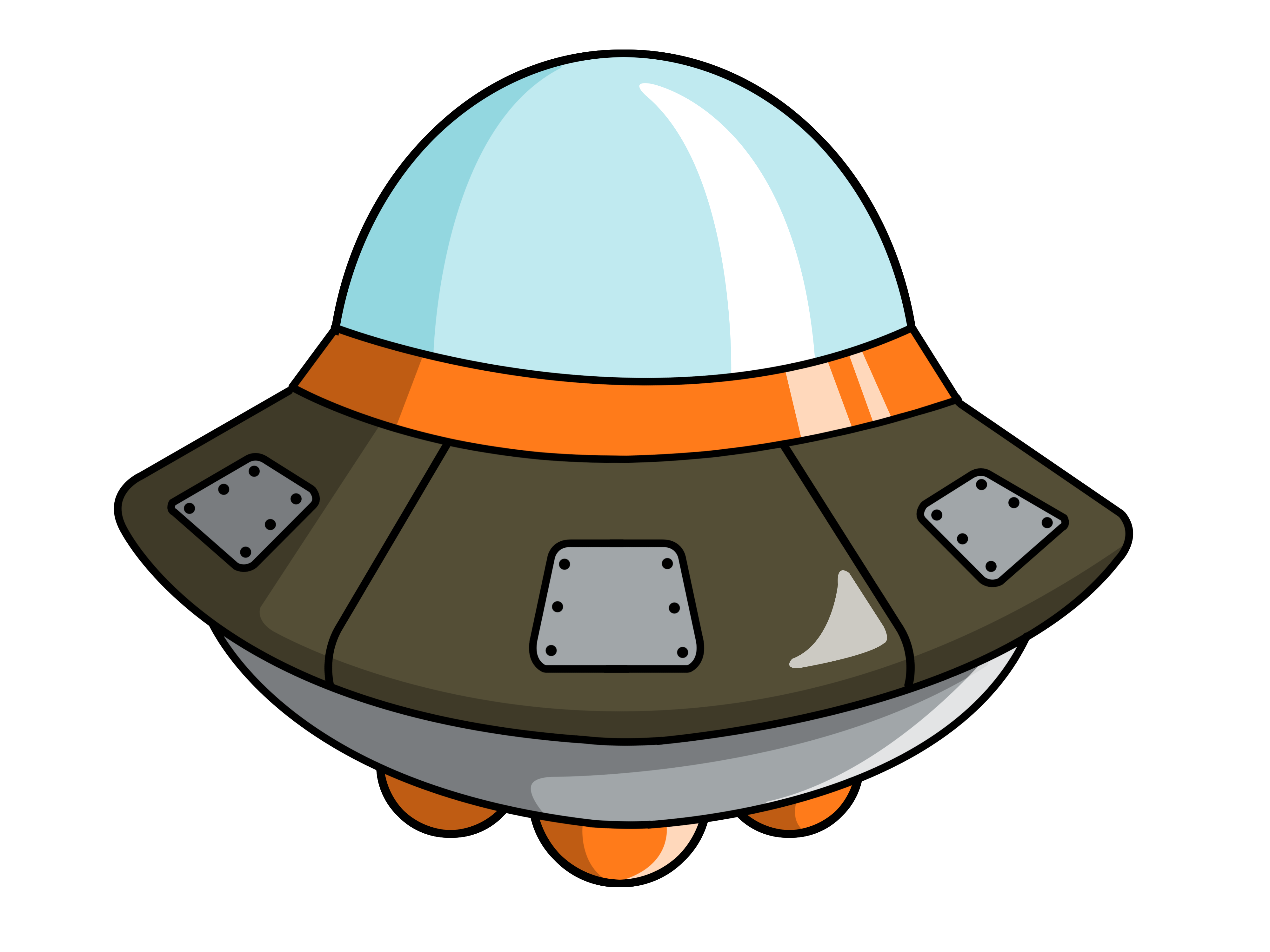 Cute spaceship clipart 2