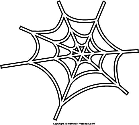 Cute spider web clipart free .