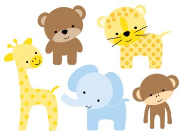 Cute Zoo Animal Clipart #1
