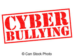 ... CYBER BULLYING red Rubber Stamp over a white background.