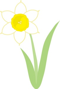 Daffodil Clipart Image: Daffodil