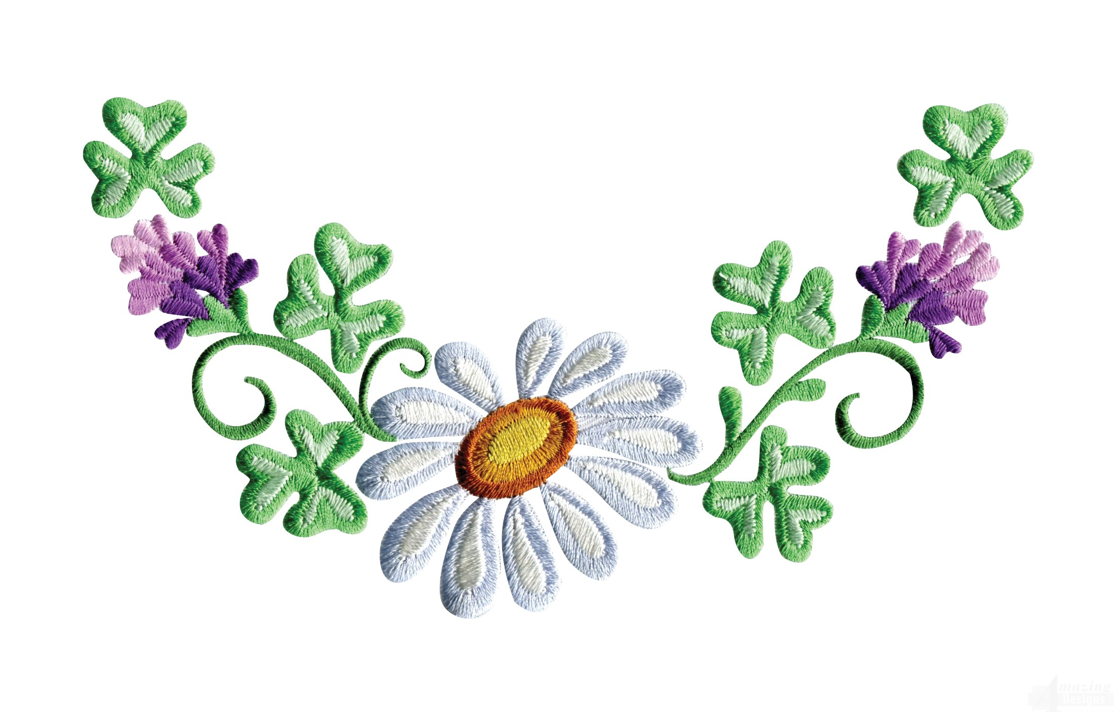 Daisy Floral Border 1 Embroidery Design Clipart Best Clipart Best