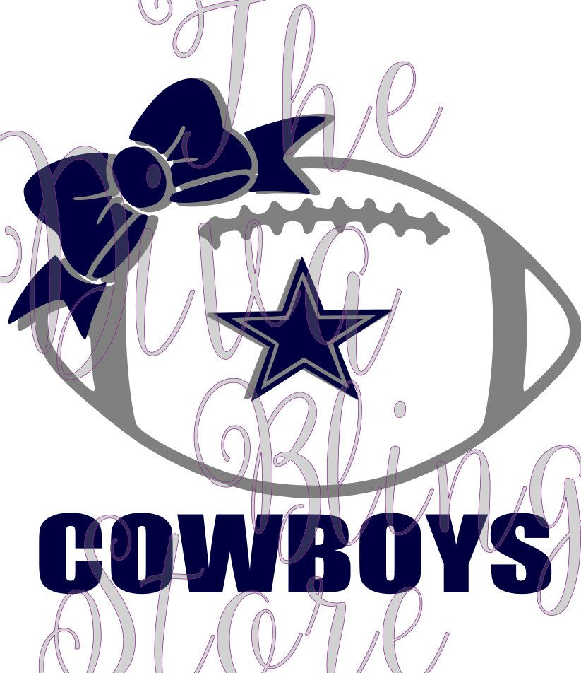 Dallas Cowboys Football with Bow SVG FIle