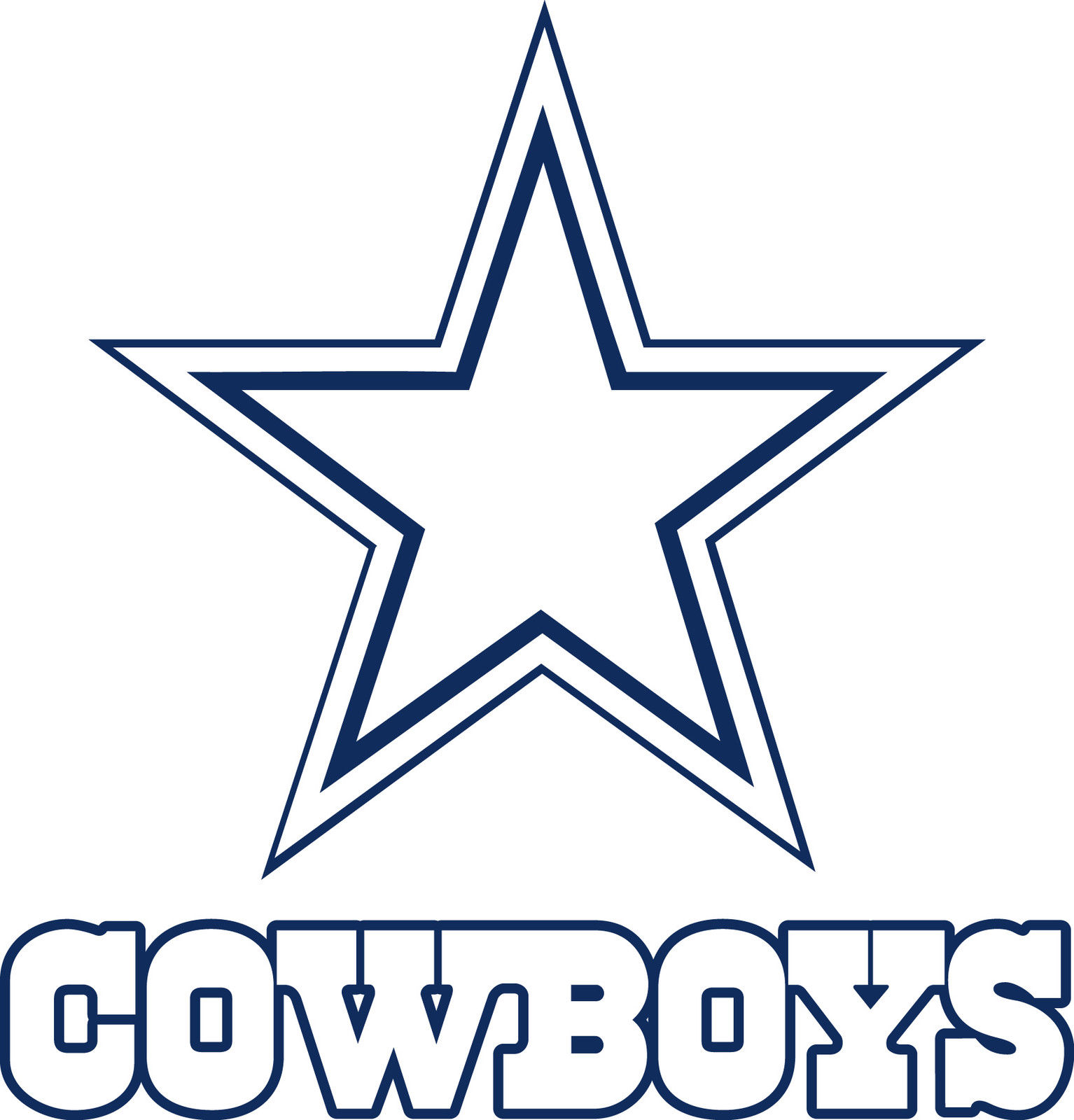 Dallas Cowboys Logo Drawings | DALLAS COWBOYS Star Lo