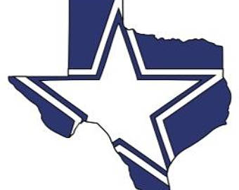 Dallas Cowboys Texas Vinyl