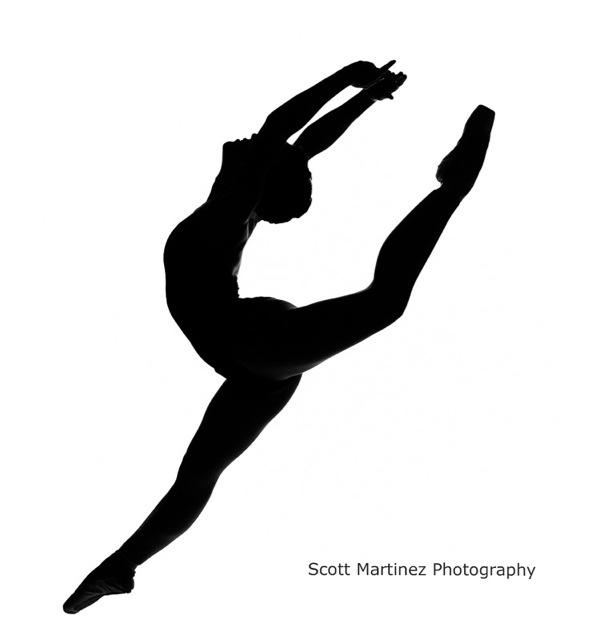 Dance arabesque clipart