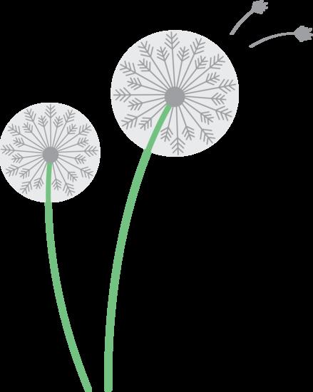 Dandelion Flower Clipart #1 .