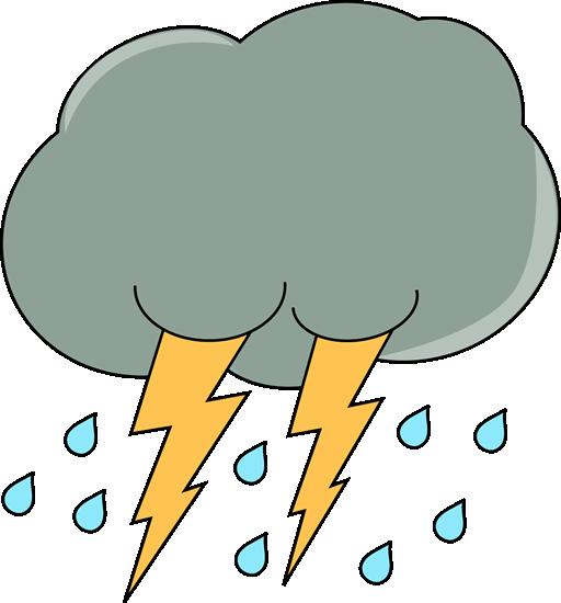 Dark Lightning and Rain Cloud