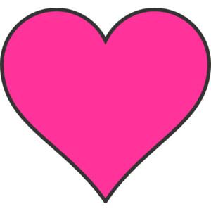 Dark Pink Heart clip art