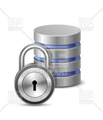 Database security icon and padlock, 5631, download royalty-free vector  vector image ClipartLook.com