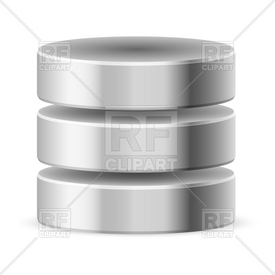 Metal cylindrical database or HDD icon, 7802, Database Clipart royalty-free vector  vector image hdclipartall.com