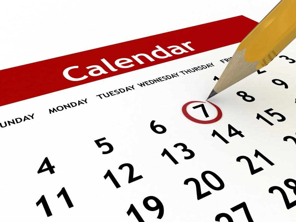 Date calendar clipart .