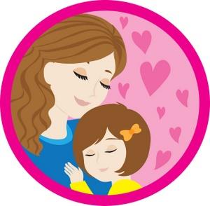 Daughter Hugging Clipart