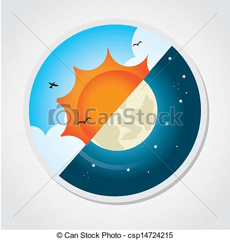 ... day and night design over gray background vector... ...
