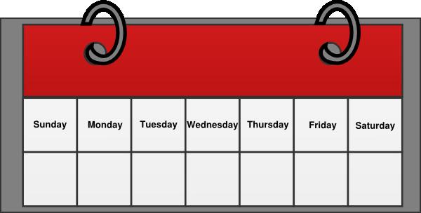 Days Of The Week Calendar Clipart Calendar Clip Art Vector
