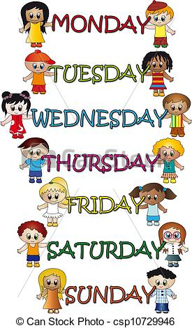 Days Of The Week Clipart #1. Stock Illustration Days Of ..