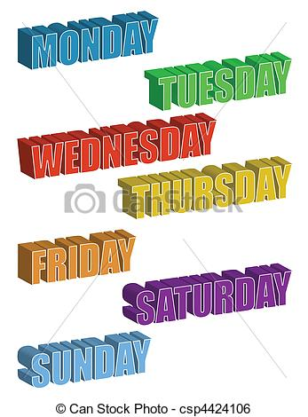 Days of the Week - csp4424106