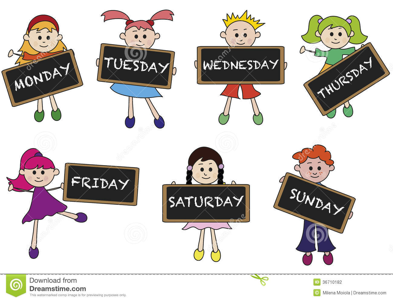 Days Of Week Stock Photography Image 36710182