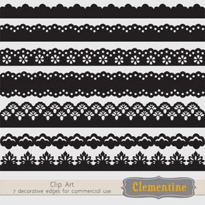 Decorative borders clip art .