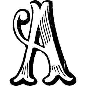 Decorative Letter A Clipart