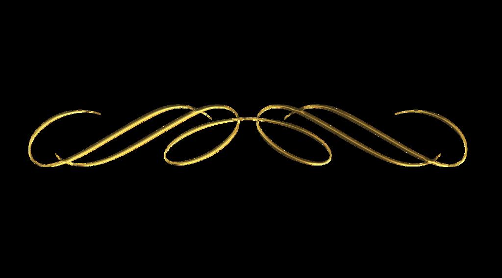 Decorative Line Gold Clipart divider