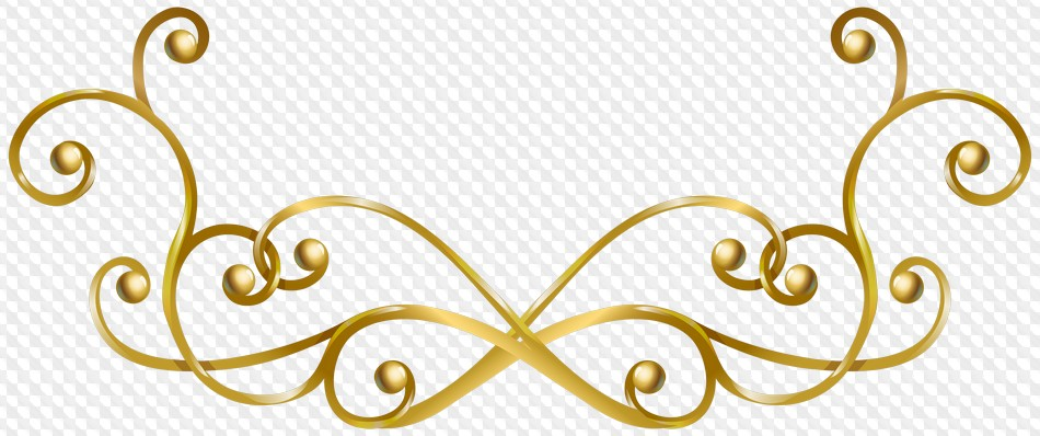Decorative Line Gold Clipart gold png