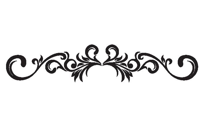 Decorative Scroll Clipart Kid. Decorative Scroll decals .