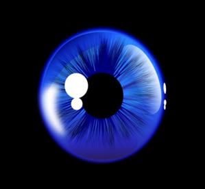 Deep Blue Eye Clip Art